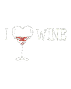 LOVE WINE RHINESTONE