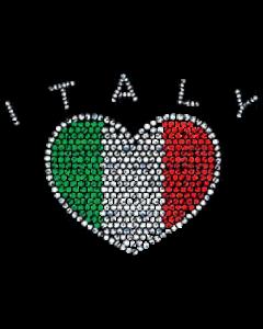 ITALY HEART RHINESTONE