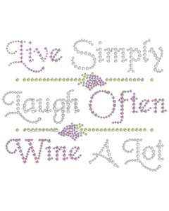 LIVE LAUGH WINE A LOT RHINESTONES