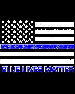 BLUE LIVES MATTER FLAG PKT