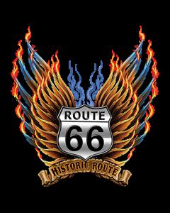 RT 66 HISTORIC SHIELD WINGS