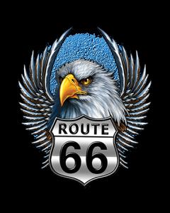 ROUTE 66 SHIELD EAGLE