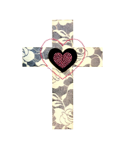 HEART CROSS WITH LACE