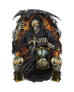 GRIM REAPER WITH HOUR GLASS