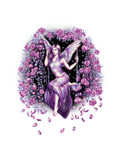 FAIRY SWINGING WITH FLOWERS