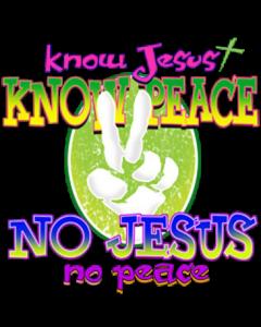 KNOW JESUS PEACE NEON