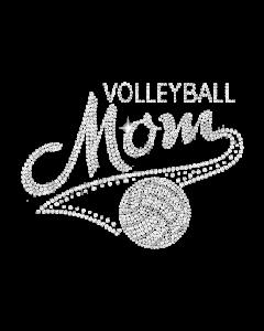 VOLLEYBALL MOM RHINESTONE
