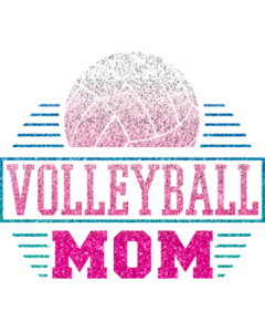 VOLLEYBALL MOM GLITTER