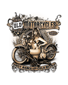 OLD MOTORCYCLE HOT BABES COLD