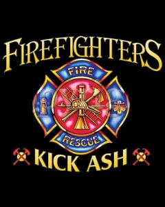FIREFIGHTERS KICK ASH    19