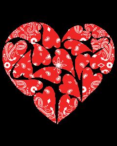 HEART BANDANA