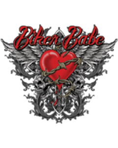 BIKER BABE WINGS WITH HEART