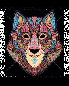 WOLF - ART - MOSAIC