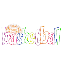 BASKETBALL NEON RHINESTUD