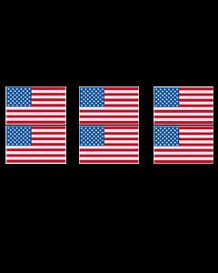 USA FLAG GANG SHEET (6pcs)