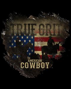 TRUE GRIT AMERICAN COWBOY FLAG