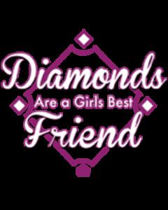 DIAMONDS ARE A GIRLS BEST FRIEND SOFTBALL